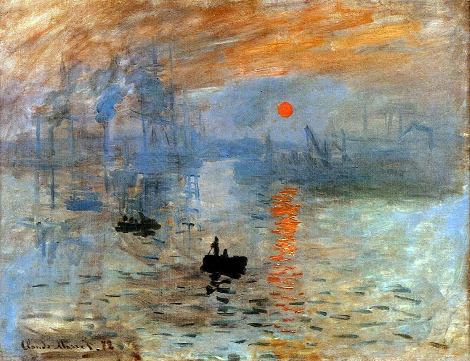 Impresión, Sol Naciente (Óleo sobre lienzo) Claude Monet, 1873